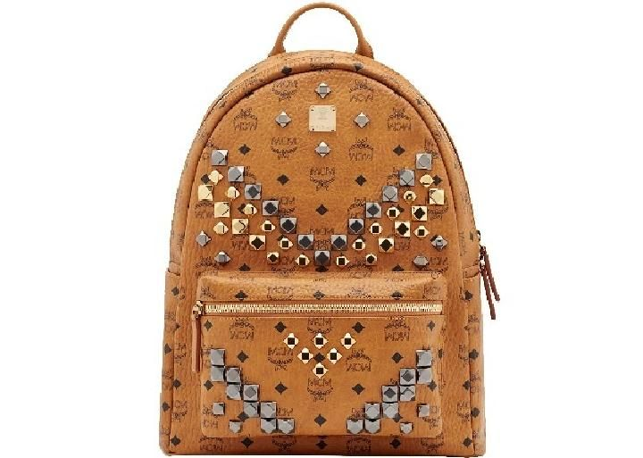 MCM STARK BACKPACK IN SIDE STUDDED VISETOS. #mcm #bags