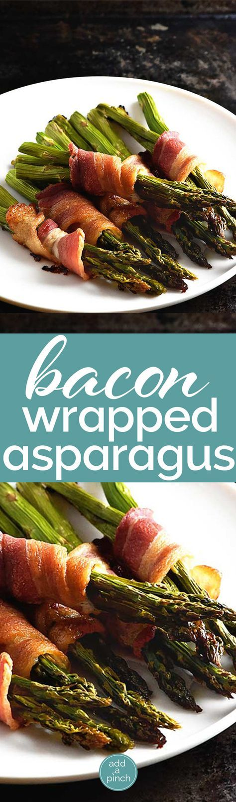 Bacon wrapped asparagus makes a delicious side dish. On the table in less than 30 minutes, this makes an easy and elegant asparagus recipe perfect for entertaining.