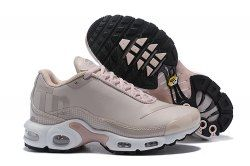 fbcb0de003 Excellent Nike Mercurial Air Max Plus Tn Leather Beige Pink White Sneakers  Women's Running Shoes