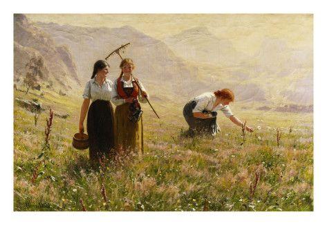 Hans Dahl (1849–1937): Summer's Day in Norway