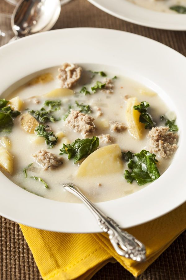 Restaurant-Inspired Soup Recipe: Olive Garden's Zuppa Toscana - Follow #SightApp and save an entire article or recipe by 1 screenshot (Check How: https://itunes.apple.com/us/app/sight-save-articles-news-recipes/id886107929?mt=8