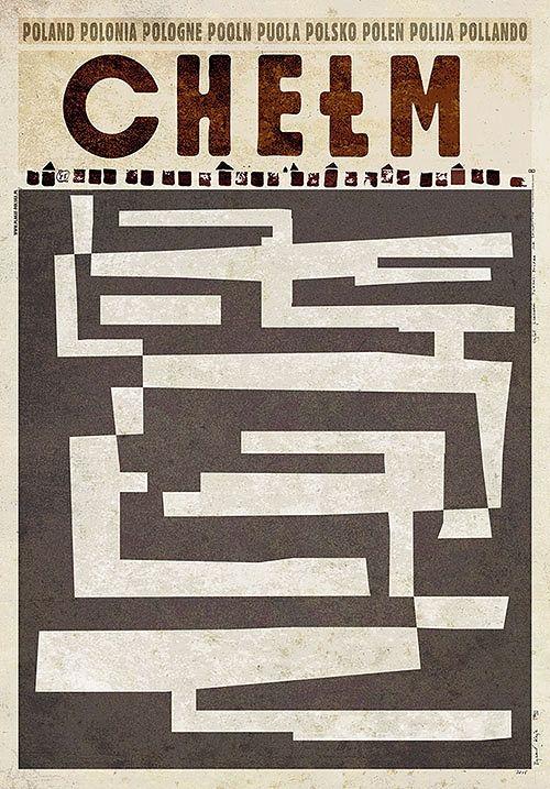 Chełm,  plakat z serii Polska, Ryszard Kaja