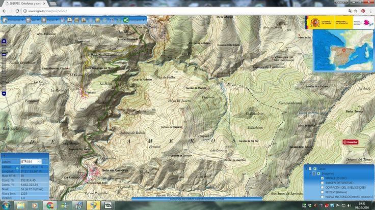 Aquí tienes un ejemplo de visualización de una de las zonas de posible realización del itinerario , el cañón del Leza