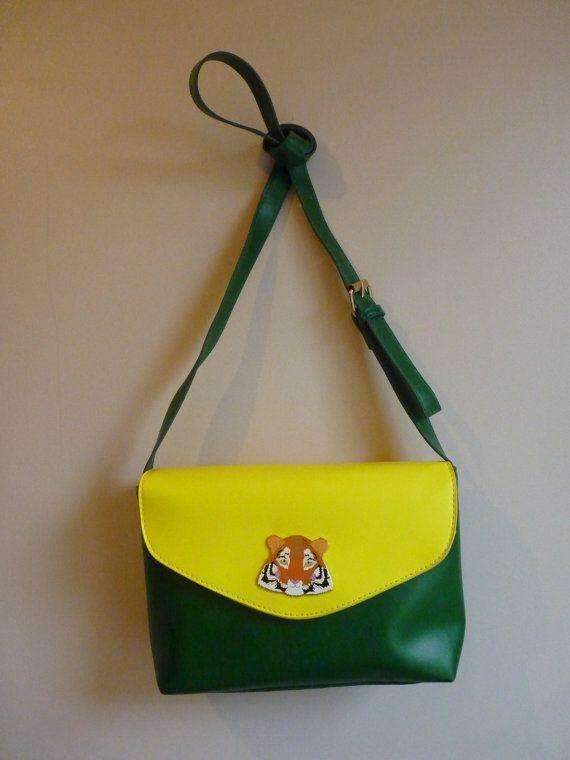 Tiger Colour Block Handbag