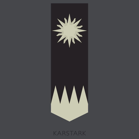 Game of Thrones house Karstark sigil by housegrafton