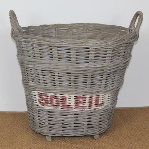 One of the baskets in Villa Maison's new French Vineyard Collection. A vintage rattan basket taking inspiration from the rich history of vineyards across France.