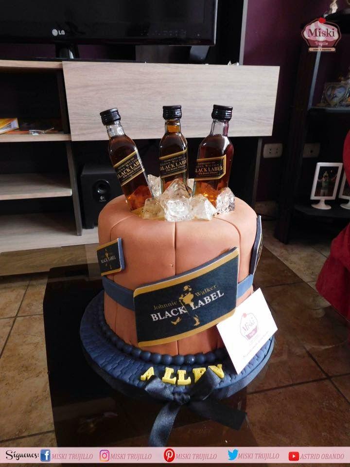 Cake Whisky Blacklabel Johnnie Walker Birthday Whisky Cake Cake
