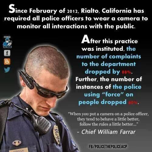 All police should have to wear cameras, the authority they have is unprecedented. This should also apply to prison guards.