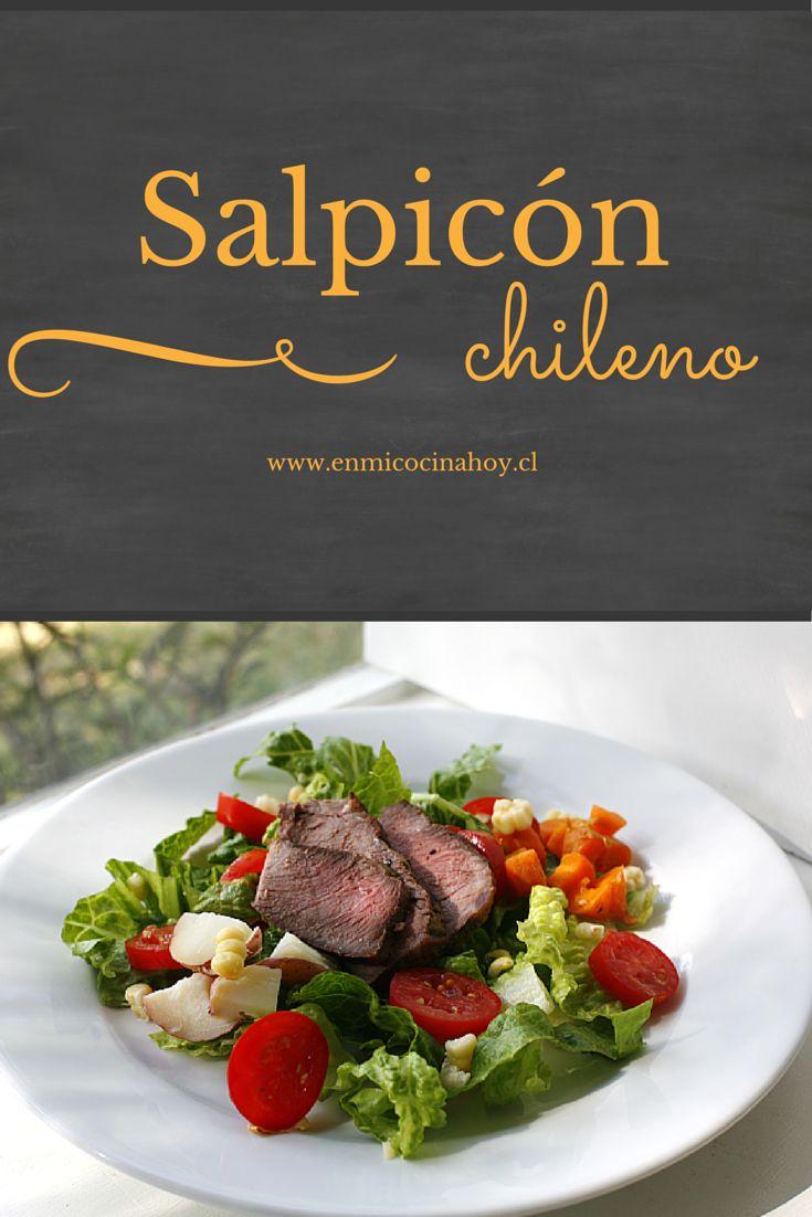 El salpicón, es una receta chilena que ha perdurado en el tiempo. Se puede hacer de pollo o vacuno, siempre con restos de otra comida.