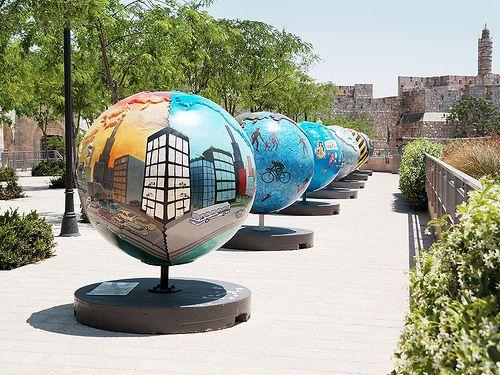 Jerusalem, Israel - Cool Globes, traveling exhibition
