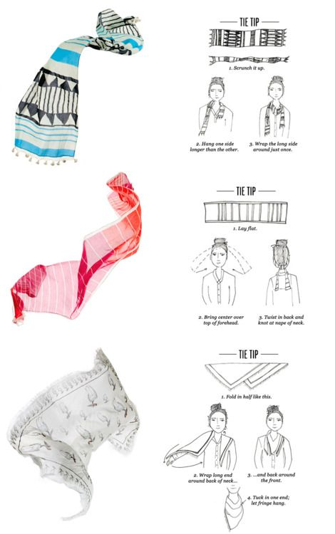 15 best Scarf Tying Tips images on Pinterest | Head scarfs ...