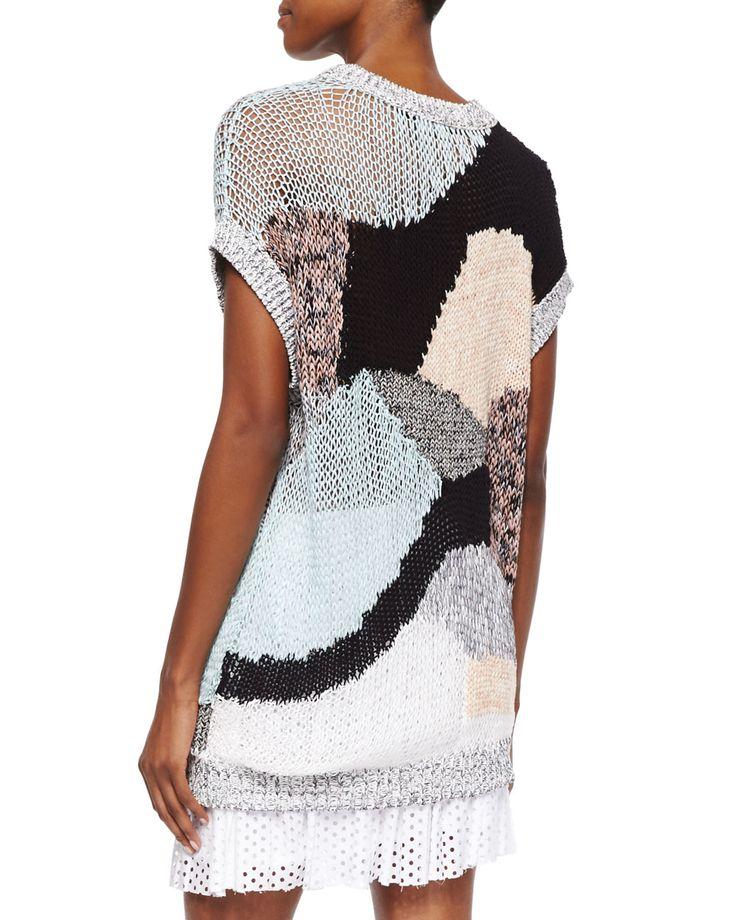 Картинки по запросу McQ Alexander McQueen Patchwork open-knit cotton