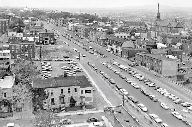 Le boulevard René-Lévesque en 1965