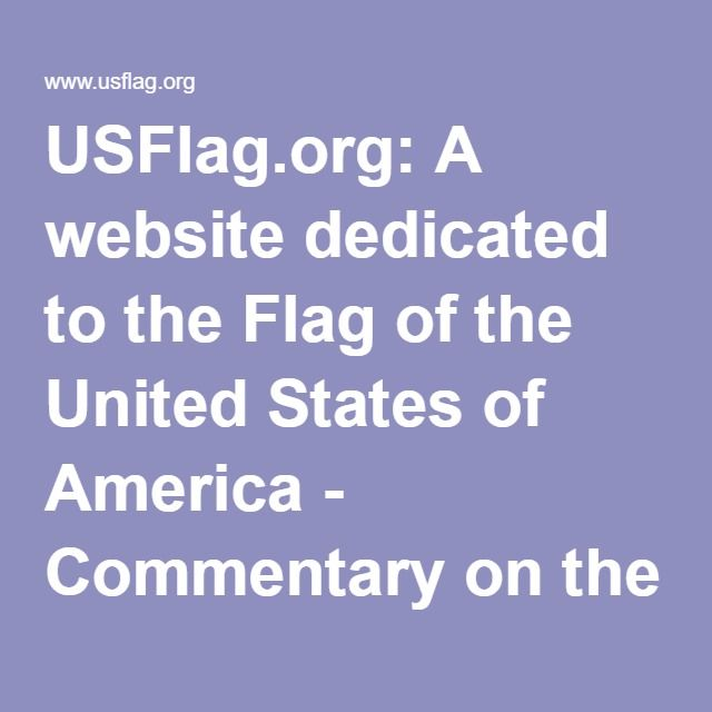 USFlag.org: A website dedicated to the Flag of the United States of America - Commentary on the Pledge of Allegiance