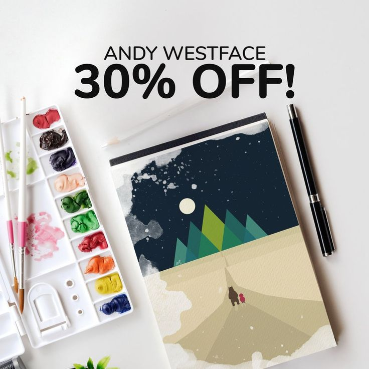 Our brand of the week- Andy Westface! Get -30% for his designs with the code: ANDY30