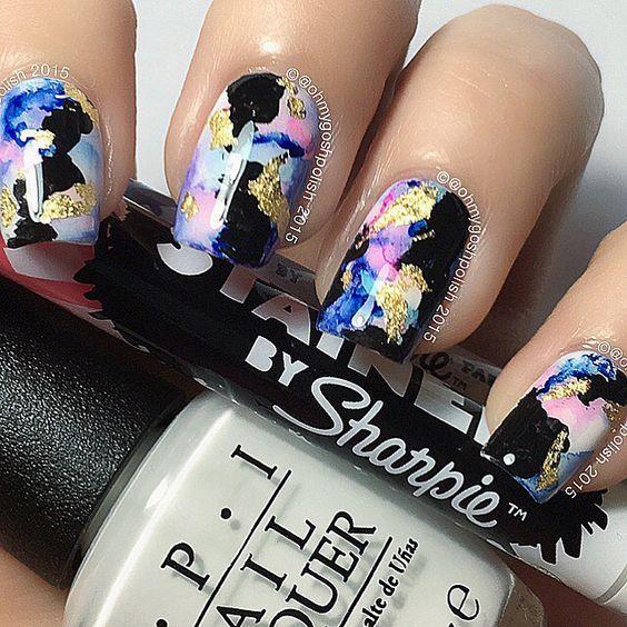 Sharpie Nail Art Design