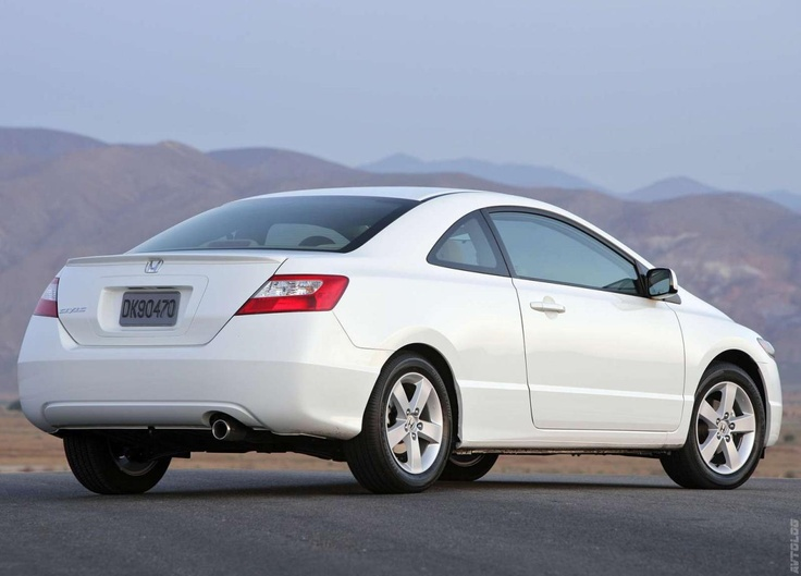 2006 Honda Civic Coupe.  Ours is fire engine red and in 2013 we are still driving this one.