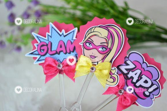 Topper p/ Docinhos Barbie Super Princesa