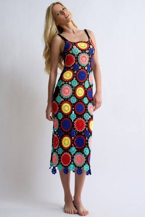 Granny - bloeur.gr boho dress colours crochet bohochic woman summer 2017 bloeur