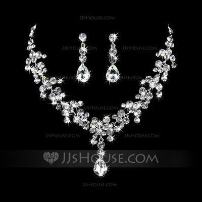 Jewelry - $18.99 - Elegant Alloy With Rhinestone Ladies' Jewelry Sets (011026997) http://jjshouse.com/Elegant-Alloy-With-Rhinestone-Ladies-Jewelry-Sets-011026997-g26997