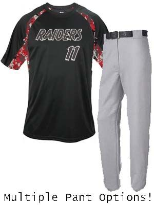 "Adult/Youth ""Digital Camo Raider"" Baseball Uniform Set BGR4140-2140BAS-SET"
