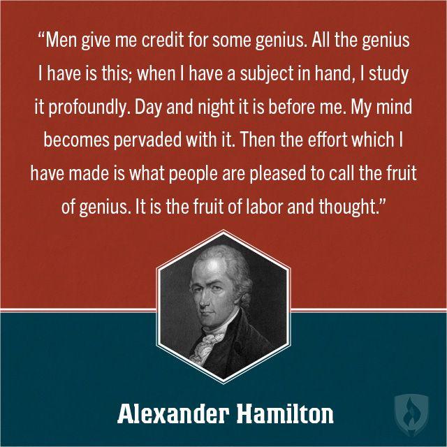 Alexander Hamilton Education Quote