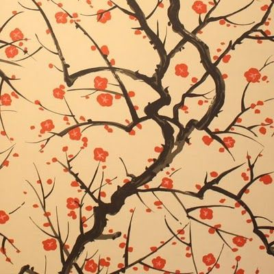 Clarence House Flowering Quince, whether used as wallpaper or fabric, has become a classic very quickly.