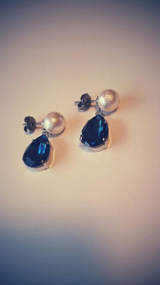 cotton pearl × bijou pierced earrings