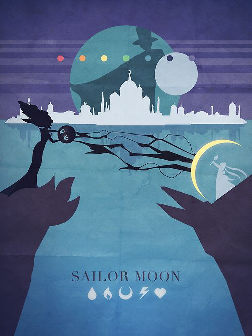 Sailor Moon Season 1 - Things Adam likes as Minimalist Posters  And I also uploaded it as a print to redbubble in case anyone is in the mood to have it on their wall, or above their toilet or whatnot.   I will probably be slapping it on an iphone case later too, and then moving on to Sailor Moon R with some chibiusa action.  The plan is to do each season, so we shall see where it takes me.