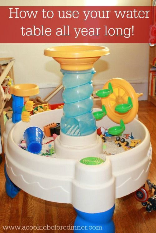 Using your water table indoors. How to use your water table all year long. Water table's just aren't for summer anymore!