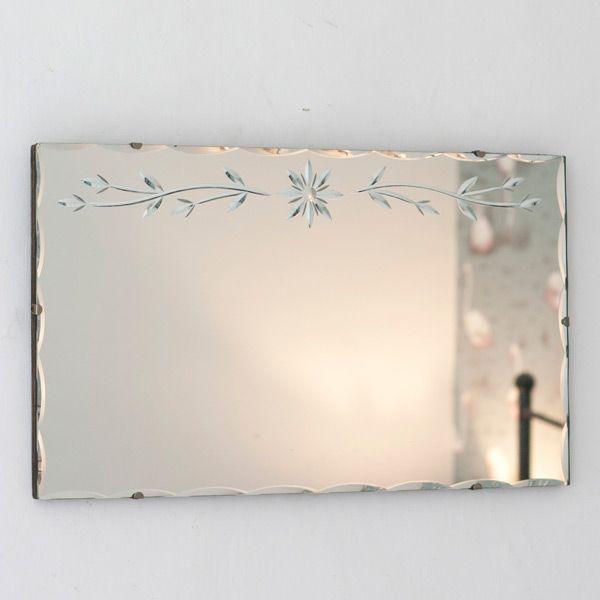 52 best Vintage Frameless Mirrors images on Pinterest Vintage