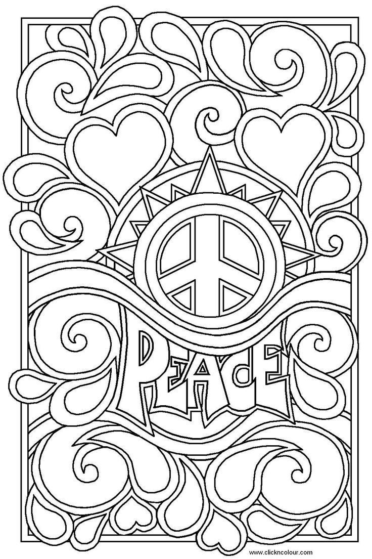 Item Hippie Coloring Design The Word Artwork Color Periods Love Coloring Pages Coloring Pages For Teenagers Coloring Pages