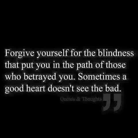 It's the bad hearts that are suspicious of everyone else, after all. Good people with good intentions rarely expect deviousness in others.