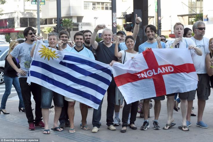 The big one: Thousands of England and Uruguay fans are descending on Sao Paulo