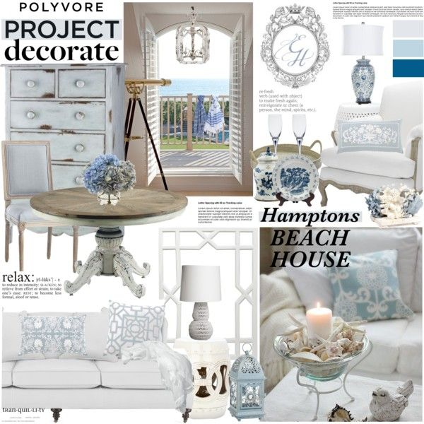 """HAMPTONS BEACH HOUSE"" by margaretferreira on Polyvore"