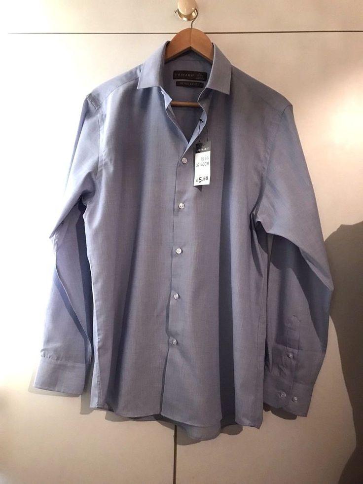 Only £3.99!! PRIMARK Mans Blue Shirt Size Regular Fit (39-40cm)