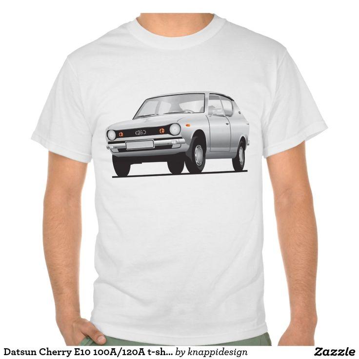 Datsun Cherry E10 100A/120A t-shirt  #datsun #cherry #datsuncherry #100a #datsun100a #japan #nippon #tshirt #automobile #car #tshirt #tpaita #troja #datsune10