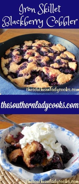 This Iron Skillet Blackberry Cobbler recipe is easy to make and great as a dessert with any meal.  Just add some whipped cream or ice cream and this won't last long.  Can be reheated in …