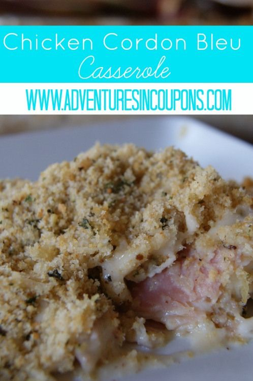 Quick and easy, this Chicken Cordon Bleu Casserole Recipe is perfect for when you need an easy meal that fits your budget! Freezer cooking friendly too!