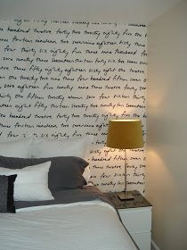 Putting fabric on the wall with liquid starch -- just peel to remove! Renter-friendly