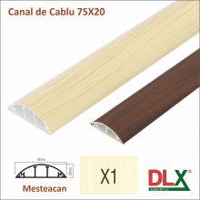 Canal cablu :: Canal de cablu cu accesorii :: CANAL DE CABLU 75x20 din PVC CU CAPAC SEMIROTUND (MESTEACAN)