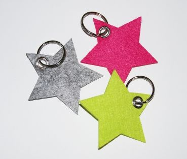 Schlüsselanhänger Stern