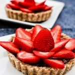 Raw Strawberry Chocolate Tarts