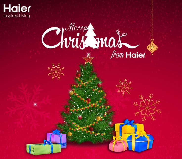 May this #Christmas fill your homes with the peace and joy of Christ. Haier India wishes you all a #MerryChristmas!