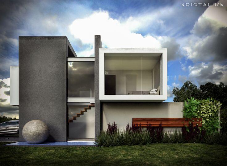 Modern facade contemporary design kristalika arquitecture and interior - Cf House Architecture Modern Facade Contemporary