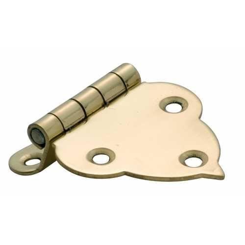 Offset Hinge Polished Brass - 45mm x 40mm
