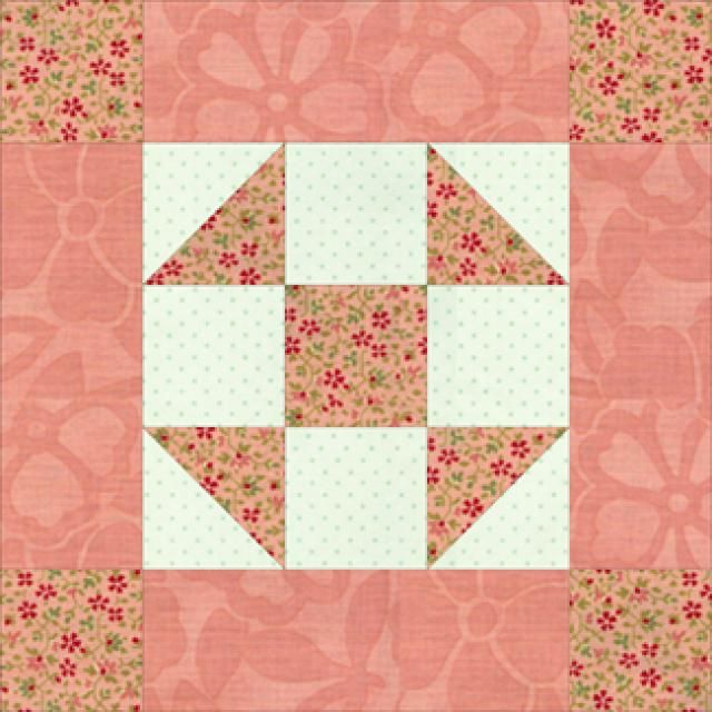 "Give One of My Five-Patch Quilt Block Patterns a Try: 10"" Philadelphia Pavement Quilt Block Pattern"