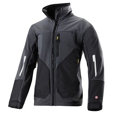 This stylish Black & Grey Snickers WINDSTOPPER Soft Shell Jacket certainly lives up to its name. Vanquish the cold, and face the wind with confidence when you're clad in this stretchable, 100% windproof soft shell.  Of course, the WINDSTOPPER stops as many onlookers as it does winds, its contemporary design turning heads wherever you tread. (Available in 2 other colours).