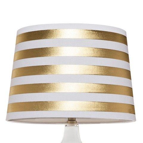 Threshold™ Gold Stripe Lamp Shade - Large