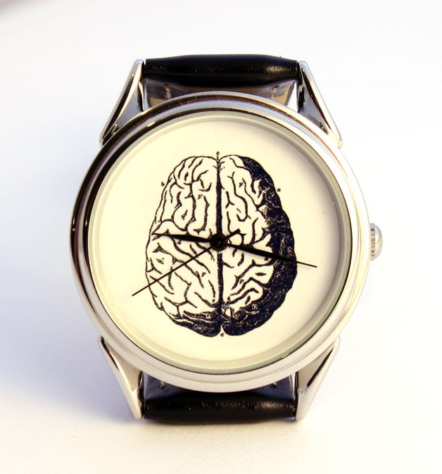 scary gifts at DaWanda, It is handmade watch with unusual design watch face.  Brains. via en.dawanda.com